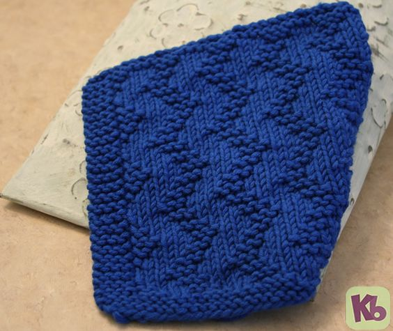 Easy Knit Zig Zag Pattern : Knit patterns dishes and loom on pinterest
