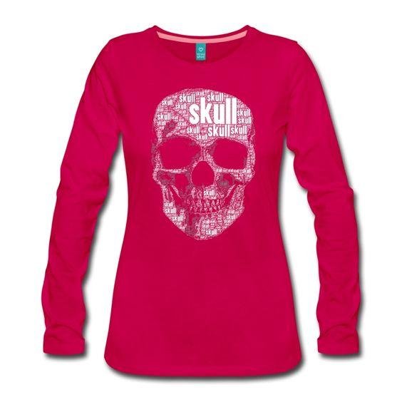 """Das Totenkopf-Motiv """"skull"""" habe ich mit einem iPhone App gestaltet. Für T-Shirts, Taschen und vieles mehr"""