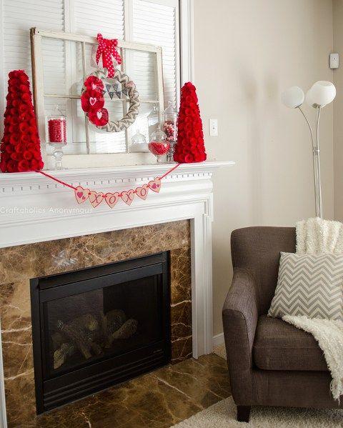 15 Beautiful Valentine S Day Mantel Ideas My Mommy Style Romantic Decor Valentine Decorations Valentines Day Decorations