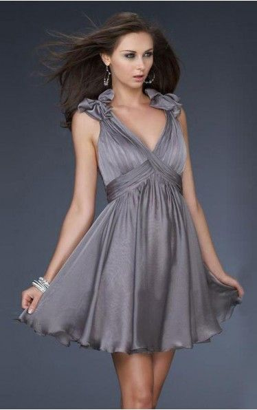 Find out the latest Chiffon V-neck A-line Short Dress From Dressesy. From evening dresses to prom dresses, cocktail dresses to maxi dresses and more. Shop one from thousands of dresses here.