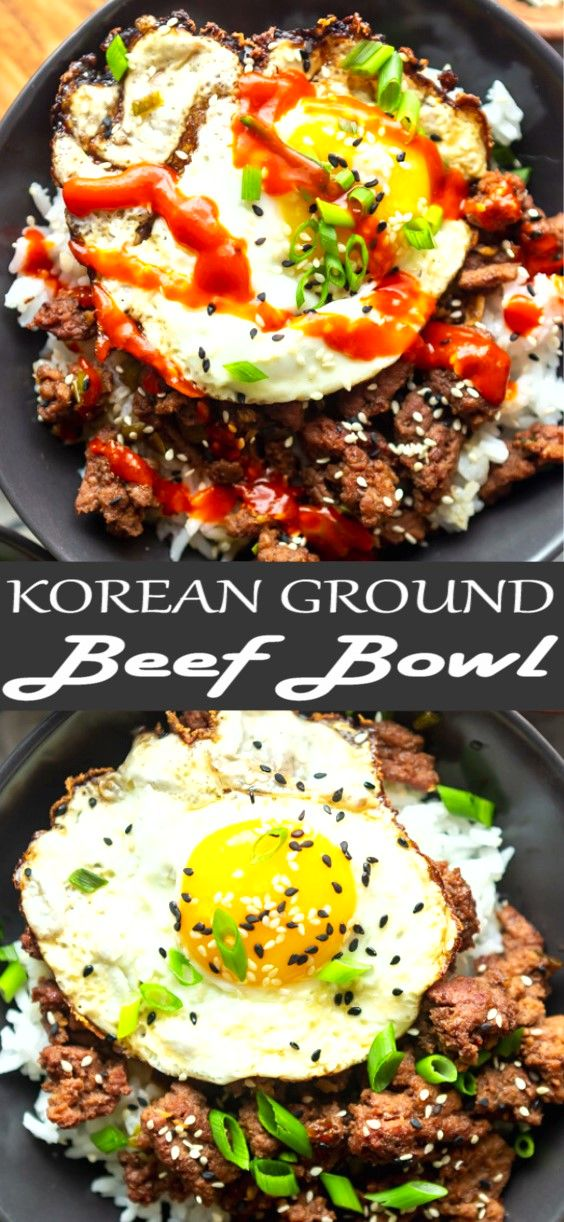 Korean Ground Beef Bowls Recipe In 2020 Dinner With Ground Beef Beef Dinner Beef Recipes