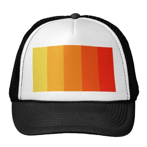 Shades of Orange Hat!  #customize #color #stripe #add #text #zazzle #store #gift #present #simple #cool http://www.zazzle.com/stripesbydww25921*
