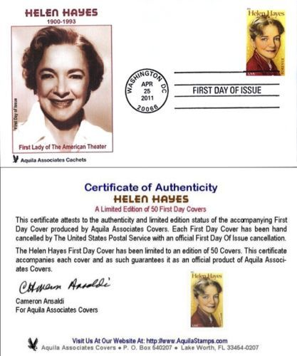 Helen-Hayes-First-Lady-Of-American-Theater-Aquila-FDC