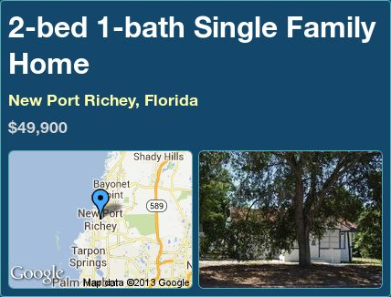2-bed 1-bath Single Family Home in New Port Richey, Florida ►$49,900 #PropertyForSale #RealEstate #Florida http://florida-magic.com/properties/3928-single-family-home-for-sale-in-new-port-richey-florida-with-2-bedroom-1-bathroom