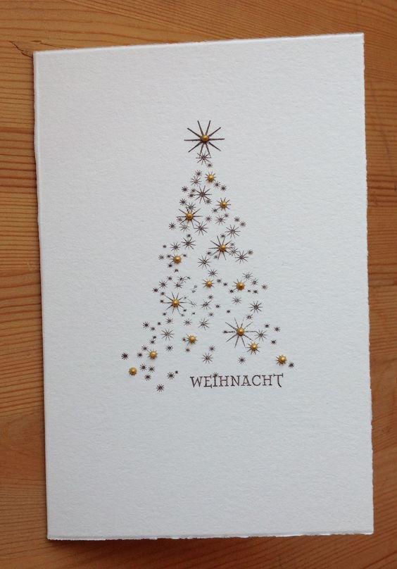 Die schlichte Karte: Weihnachtsbäume