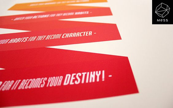 Typography poster watch your destiny by MessProject on Etsy, €17.00