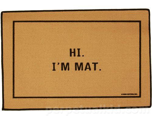 Door mat hahah
