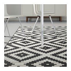 lappljung ruta tapis poils ras blanc blanc noir noir pinterest appartements avions et tables. Black Bedroom Furniture Sets. Home Design Ideas