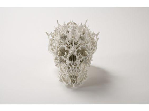 ceramic skulls by japanese artist katsuyo aoki