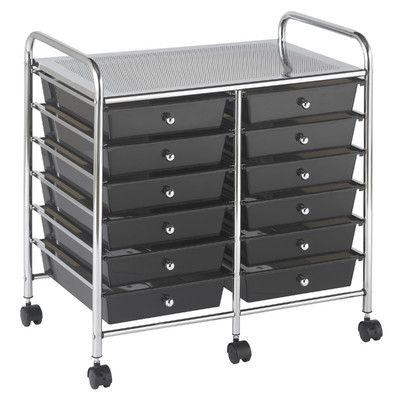 ECR4Kids 12-Drawer Storage Chest Color: Smoke