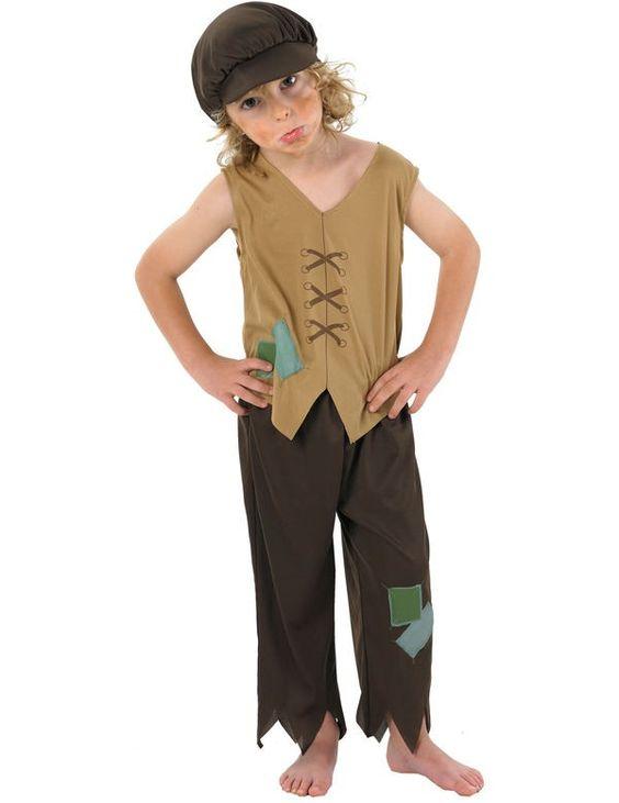 Victoriaanse Arme Jongen Kostuum ==> Feestkleding 365!