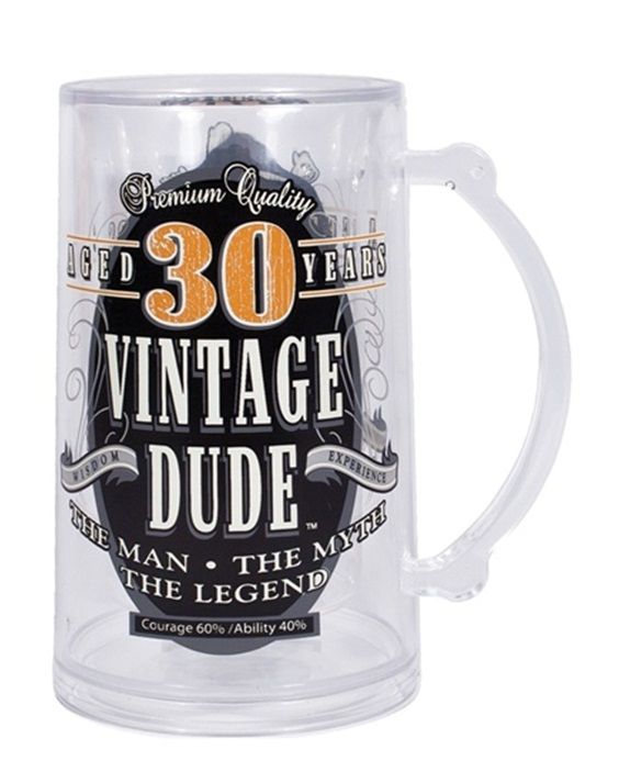Vintage dude tankard for a th birthday party or