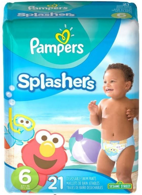 21 ct New Sealed LBS Pampers Splashers Disposable Swim Pants Diapers Size 6 37