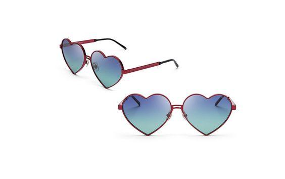 Óculos em forma de coração