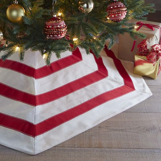 Christmas Hex Tree Skirt: