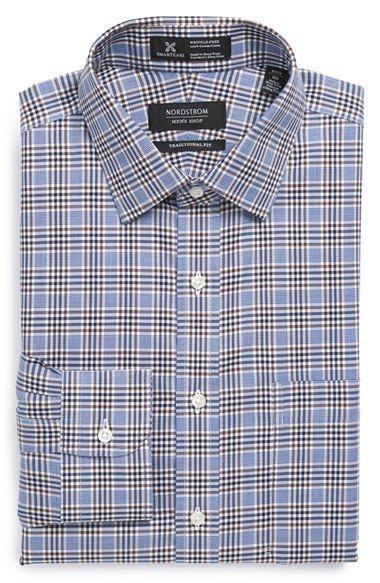 Nordstrom Smartcare™ Wrinkle Free Traditional Fit Plaid Dress Shirt