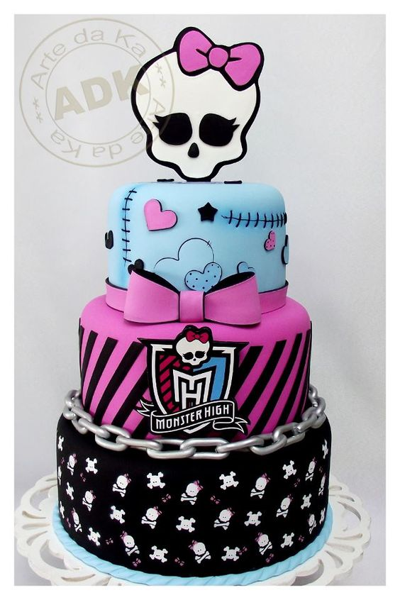 Monster High Cakes (w/doll instead of cake topper). Love the top tier