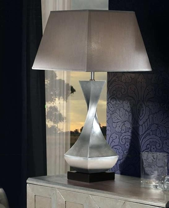 Beautiful Silver Table Lamps Living Room Design Large