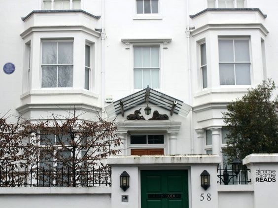 Dame Agatha Christie lived here. 58 Sheffield Terrace, Holland Park, W8 7NA