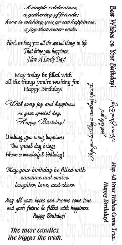 44 best Card Verses Birthday images – Birthday Greeting Card Sayings
