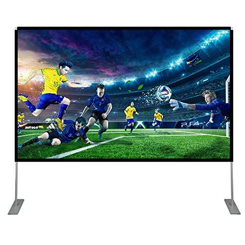 Abdtech 100 Inch Projector Screen With Stand Portable Wri Https Www Amazon Com Dp Best Outdoor Projector Outdoor Projector Outdoor Movie Screen