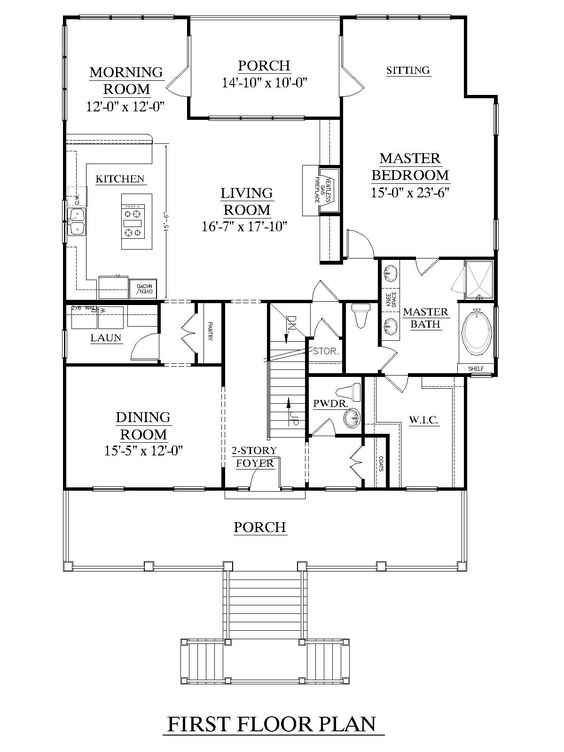 House plans master suite and first story on pinterest for House plans with downstairs master bedroom