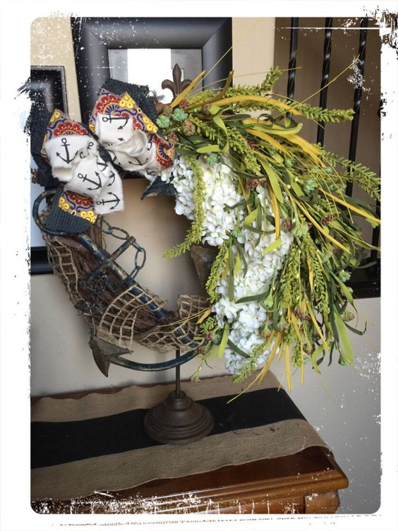 A personal favorite from my Etsy shop https://www.etsy.com/listing/386691512/anchor-wreath