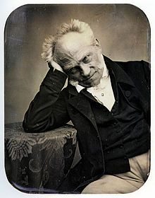 "Arthur Schopenhauer, (22 February 1788 – 21 September 1860), German philospher of pessimism. ""Happiness lies in the future or in the past, the present casts a shadow. Our desires move us and make us unhappy."
