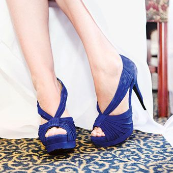 Cobalt blue Jessica Simpson #shoes. Photo by Kay English Photography