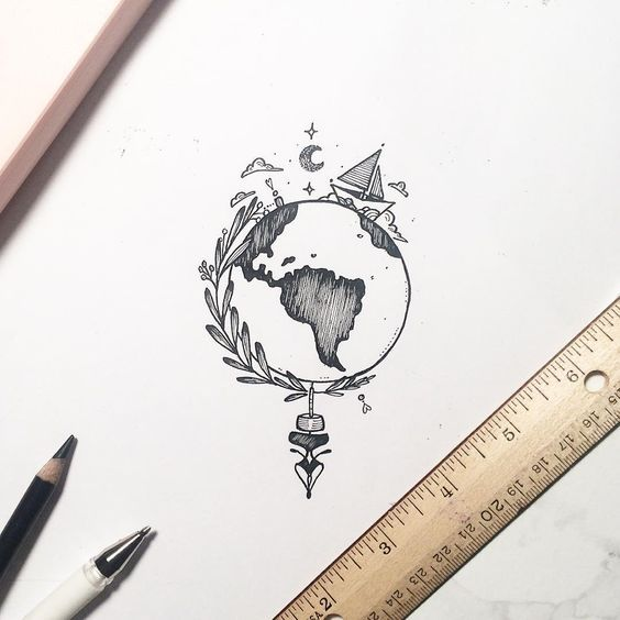 Inspiration Cool Things To Draw Easy Todraw Fun And Awesome Advices How To Draw Cool Things With A Pencil In 2020 Tattoos Compass Tattoo Drawings