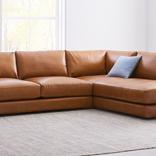 Haven Leather 2 Piece Terminal Chaise Sectional With Images Sectional Sofas Living Room Living Room Redesign Sectional