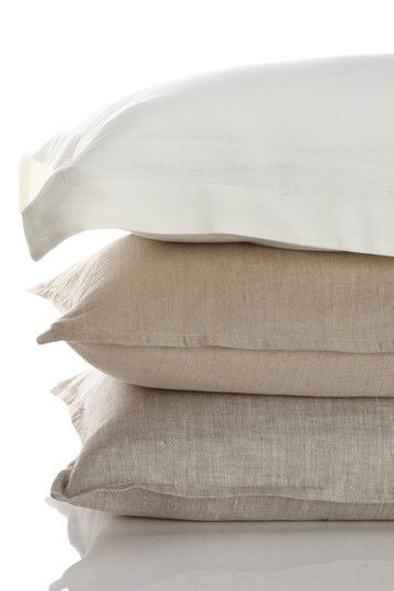 Washed 100 Percent Belgian Yarn Linen Tailored Sham - Euro - Natural on HauteLook