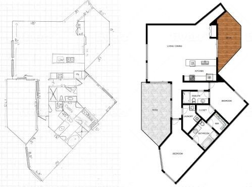 Convert Jpg Pdf Hand Sketch Old Plan To Autocad 2d Or 3d By Ethanjaxson How To Plan Hand Sketch Architectural Floor Plans