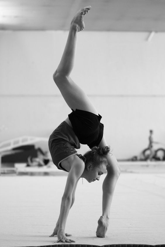 A bit jealous of her, a lot amazed but most of all speechless of her strength, flexibility and control!