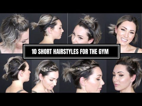 Hit The Gym With These Cute Hairstyles For Short Hair Workout Hairstyles Gym Hairstyles Thick Hair Styles