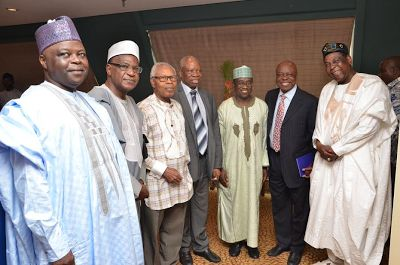 Photos: NNPC boss meets with former NNPC GMDs, says current N145 per litre is no longer feasible - http://www.thelivefeeds.com/photos-nnpc-boss-meets-with-former-nnpc-gmds-says-current-n145-per-litre-is-no-longer-feasible/