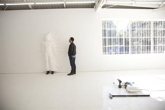 Great shot of artist Daniel Arsham