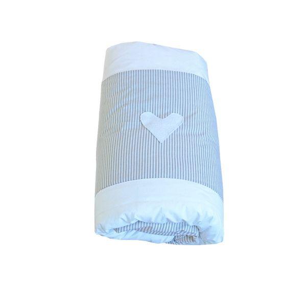 Hearts Range  Stone - Cot Duvet Cover