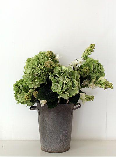 Vintage Florist's Zinc Pot pillolondon.com