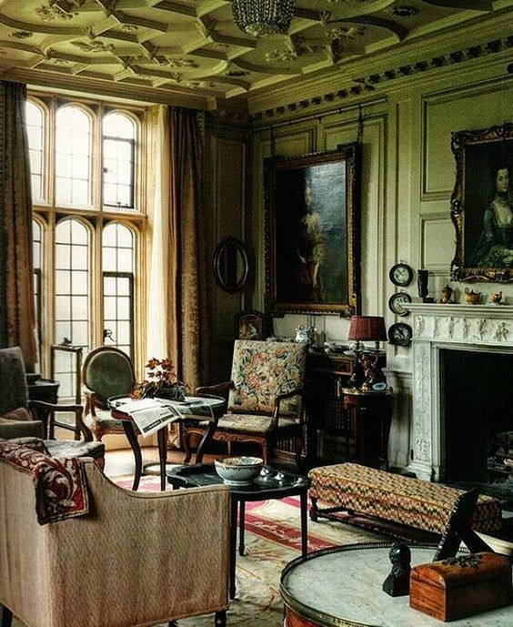 A drawing room at mapperton house mapperton dorset home for Beautiful drawing rooms interior