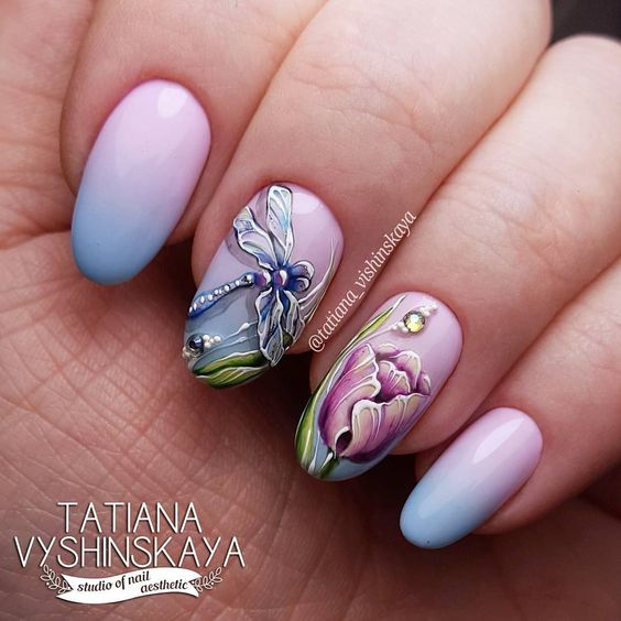 Collection Of The Most Pretty Dragonfly Nail Art Designs Myeva For