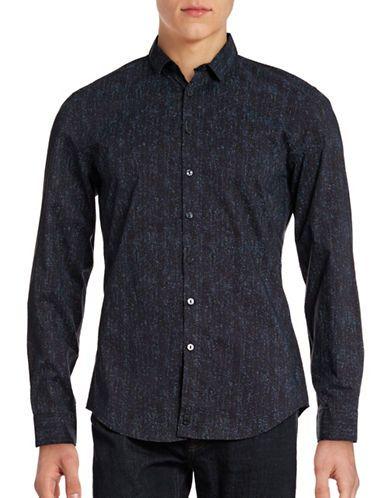 CALVIN KLEIN Calvin KleinPrinted Slim-Fit Shirt. #calvinklein #cloth #