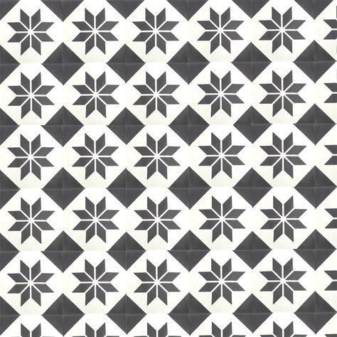 Carreau De Ciment Decor Etoile Carreau Ciment Noir Et Blanc
