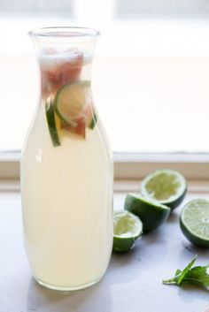 Rhubarb Mint Limeade Recipe | Vintage Mixer