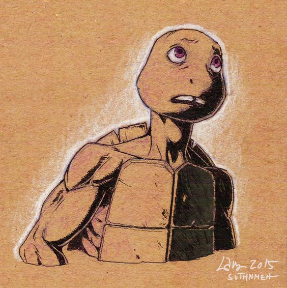 OP: Moar sketchies. I should probably draw someone other than Donnie, but… *looks at Donnie* But umm…   TMNT 2012