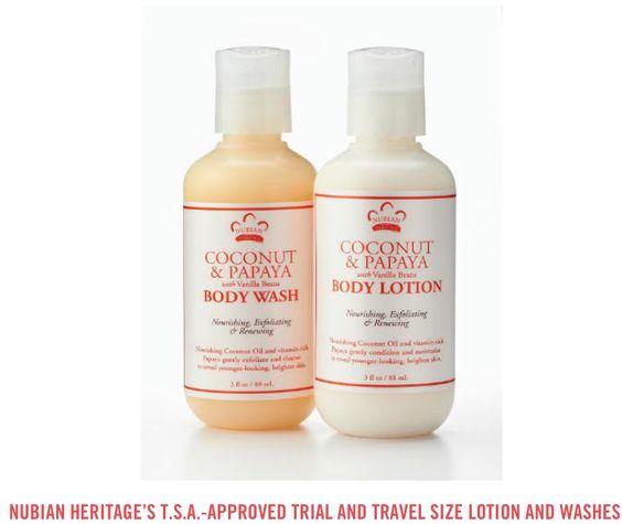 Trial size body wash