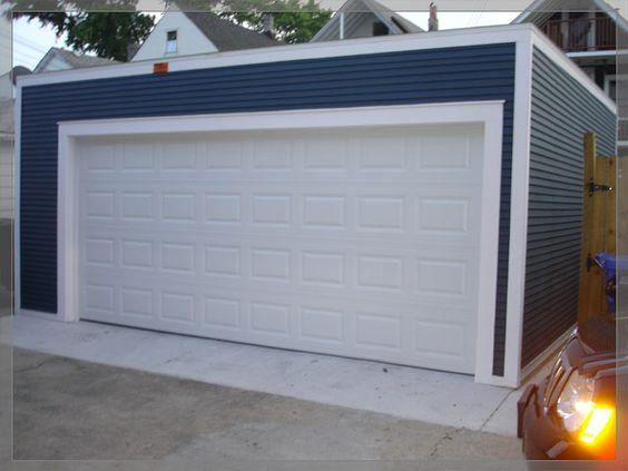Flat Roof Garage House Ideas Pinterest Flats Garage