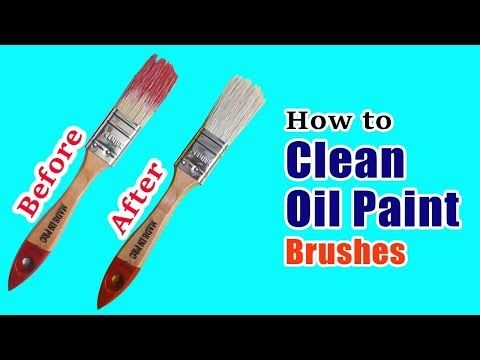 How To Clean Oil Paint Brushes Youtube Cleaning Paint Brushes Oil Paint Brushes Cleaning Oil Paint Brushes
