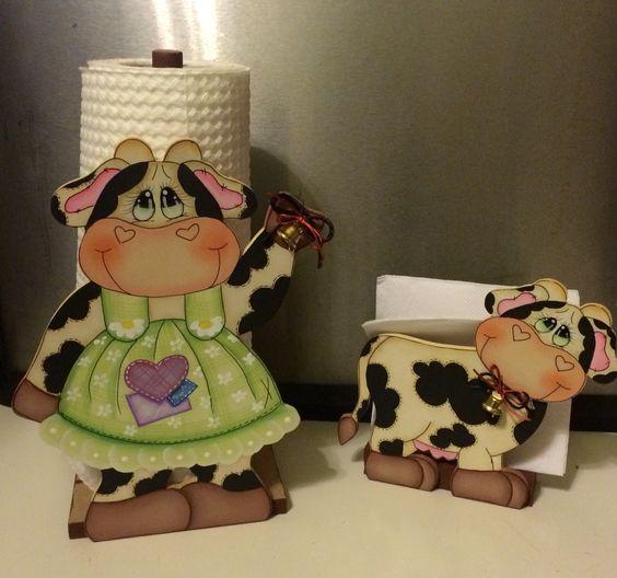 Soportes para papel de cocina toalleros and papel de - Decoracion de cocina con vacas ...