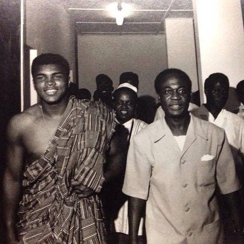 Muhammad Ali and Kwame Nkrumah circa 1964: